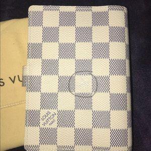 Louis Vuitton Accessories - Authentic Louis Vuitton Damier Azur Agenda PM